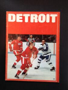 Toronto Maple Leafs vs Detroit Red Wings Program 1973