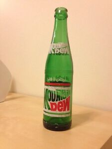 Rare Vintage Mountain Dew soda bottle