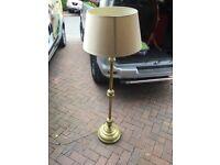 Antique brass standard lamp