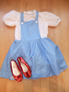 Girls Dorothy Wizard of Oz Costume - Dress & Ruby Slippers