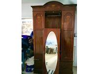 Beautiful mirrored mahogany wardrobe