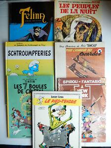 TINTIN  1999,   Lucky Luke 1985,  SPIROU  1989,  Michel TANGUY 1