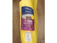 New silentnight 7 zone memory foam mattress,euro single!