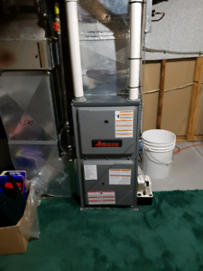 New furnace tankless water heater humidifier air conditioner
