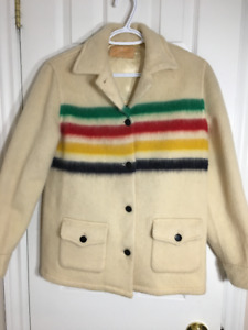 Vintage 1960's Genuine Hudson's Bay Point Blanket Jacket
