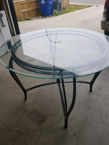 Glass Table, $100 and delivery possible