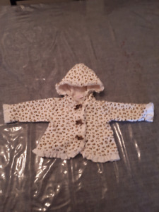 Leopard print girls coat
