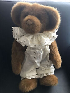 Handcrafted Teddy Bear Lucy designed and made by Susan Lewis Pug