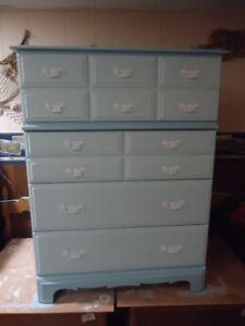 Tall 4 drawer solid wood dresser