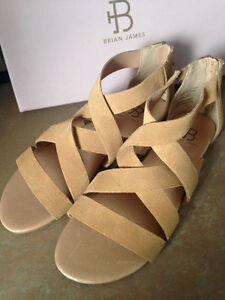Brian James suede sandals NEW