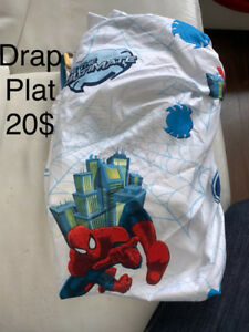 Literie Drap plat simple spider man presq