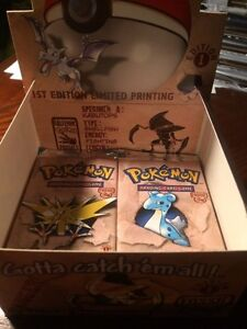 Out of Print 90s Pokemon First Edition Fossil Packs