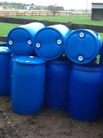 Plastic totes- 55 gal barrels-plastic and steel -food grade