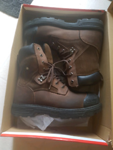 Men steel toed safety boot