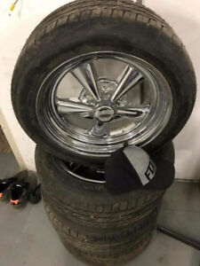 """14"""" Old school Ford  Cragar rims and tires"""