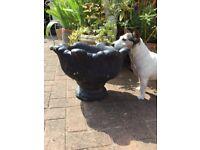 Old heavy garden urn, planter