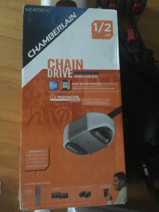 Brand New Chamberlain 1/2 hp garage door opener with myq