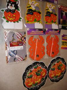 Différentes décorations d'Halloween