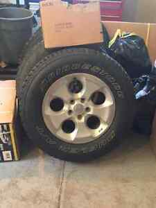 255 70R 18 jeep wrangler tires and rims