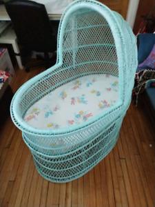 Wicker Baby Bassinet
