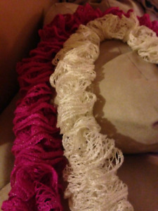 HAND KNITTED SCARVES ASKING 10.00 EACH