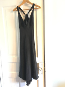 JCrew formal stunning black silk prom gown, size 4, $50 obo