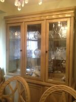 Beautiful Solid Wood Hutch - Mint Condition