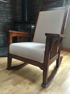 Hard Wood Rocking Chair with built-in Cushion- like new