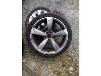 "19"" TTRS alloy wheel genuine Audi 5x112"