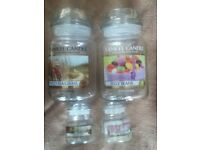Used Clean Yankee Candle Jars, Medium, Large