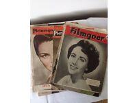 Vintage retro magazines filmgoer and picturegoer