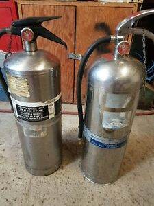 Water filled fire extinguishers