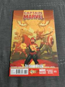Captain Marvel #13 1st app of her Mohawk.