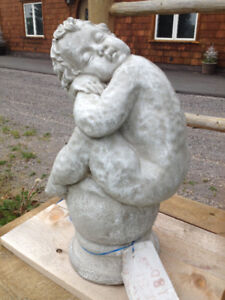 ANGEL BABY CONCRETE GARDEN STATUE LARGE