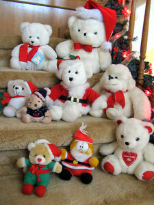 Christmas Teddy Bears ---in next to new condition.