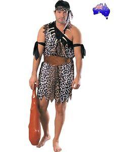 Mens Adult Caveman Stone Age Jungle Tarzan Halloween Fancy Dress Party Costume