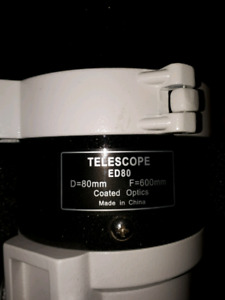 Telescope with auto guided equatorial mount