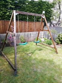 Wooden TP double swing