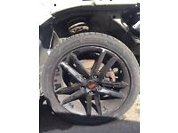 """Genuine 17"""" seat leon fr alloy wheels with tyres"""