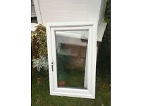 White pvc window double glazed