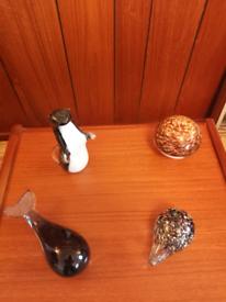 Wedgwood glass ornaments