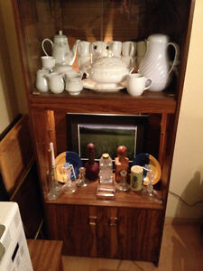 Reduced to sell- dining cabinets with lights