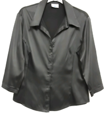 BLACK BLOUSE SIZE 12/14 NEW LOOK