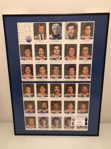 LOOK EXTREMELY RARE EDMONTON OILER RED ROOSTER SET