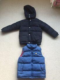 Boys coat and gillet. Bargain buy.