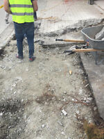 Brick, masonry and concrete demolition clean up and removal