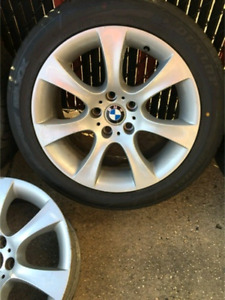 """Bmw 18"""" staggered rims + tires"""