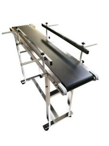 """Small 47.2""""*7.8""""Packing Conveyor with Double Guardrail PVC Belt #230013"""