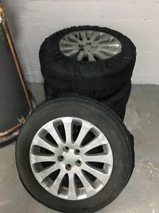 """Subaru Impreza 4 Mags Jantes 16"""" sur pneu"""