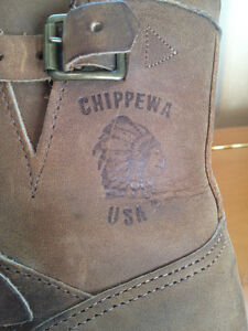 "Men's Chippewa 7"" Bay Crazy Horse Engineer Boots - Size 9.5 Peterborough Peterborough Area image 3"